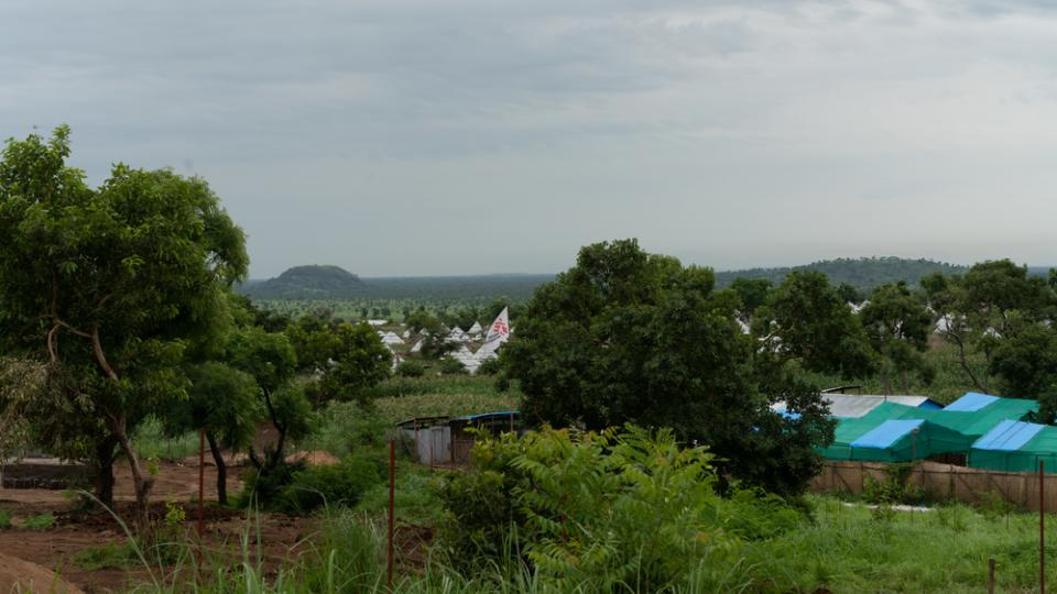 A view of the MSF base in Ngunyyiel refugee camp.