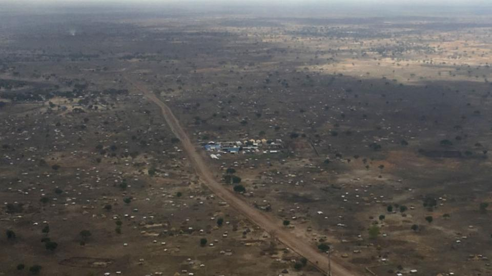 View of Agok, in the district of Aweil, which lies between Sudan and South Sudan