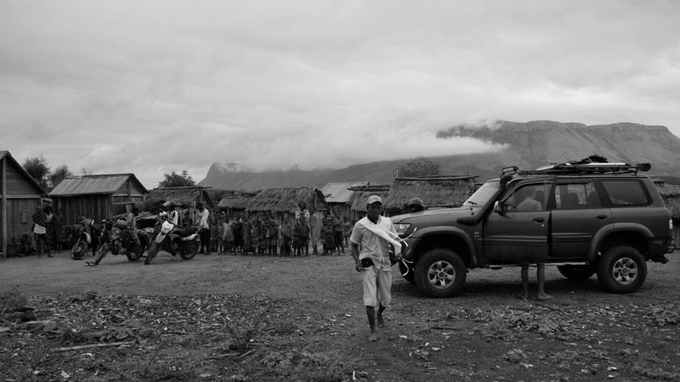 An MSF team arrive at the village of Ranobe in Madagascar