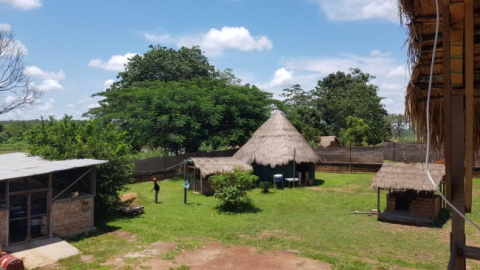 The MSF compound in Bossangoa, Central African Republic