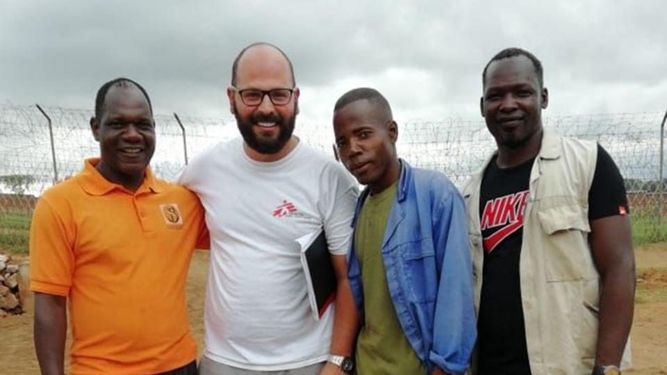 Ibrahim Al Laham with MSF colleagues in Malawi