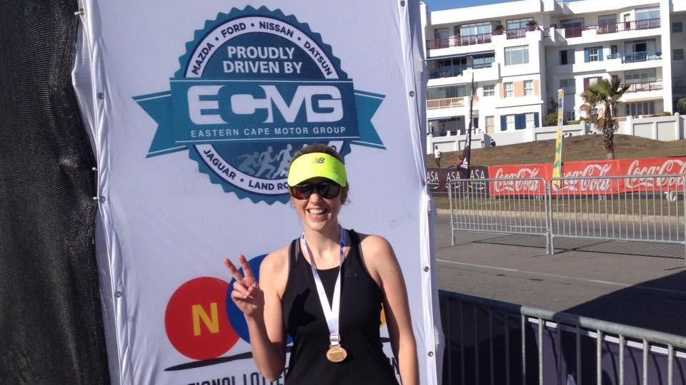 Ingrid Schoeman after running a 21.1 km race