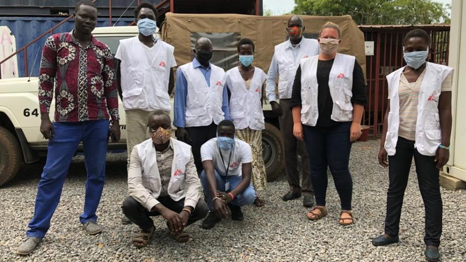 Laura and members of the MSF team in Juba, South Sudan