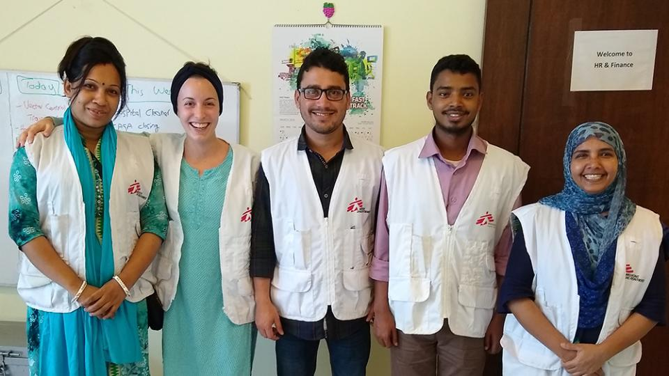 Some of the team at Sadar District Hospital