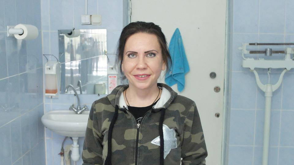Svitlana is an MSF TB patient in Zhytomyr