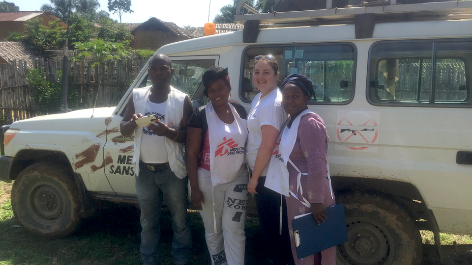 Alanah Jensen and the MSF team in Walikale, DRC