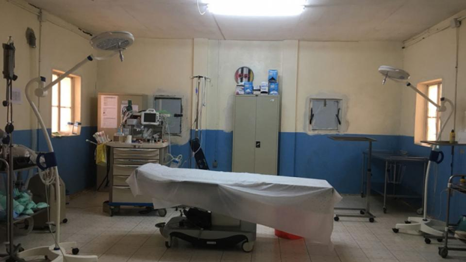 The empty operating theatre in Agok