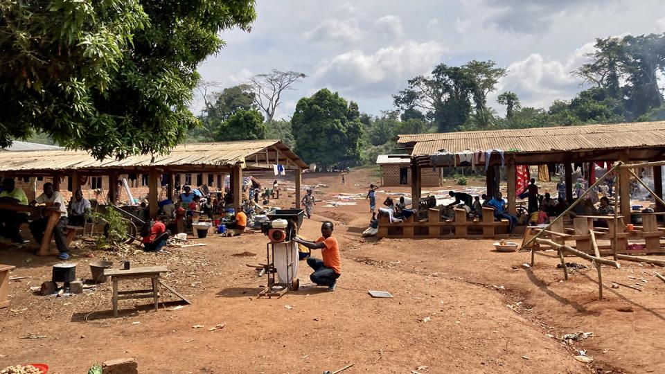 A village in the Central African Republic