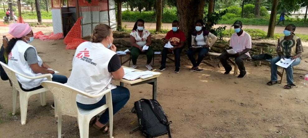 Training session for community health volunteers