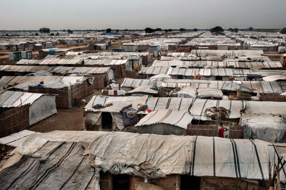 View of Bentiu camp for displaced people in South Sudan