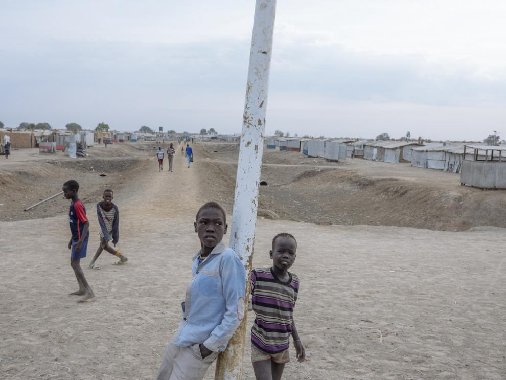 Children play in the Bentiu Protection of Civilians site, December 2018