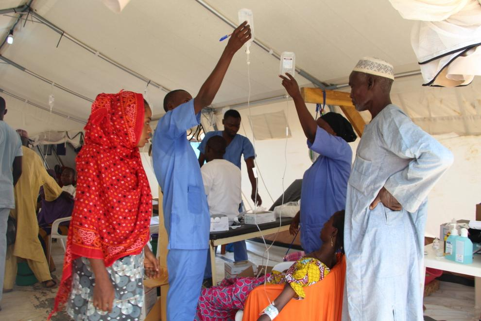 An MSF cholera treatment centre in Maiduguri