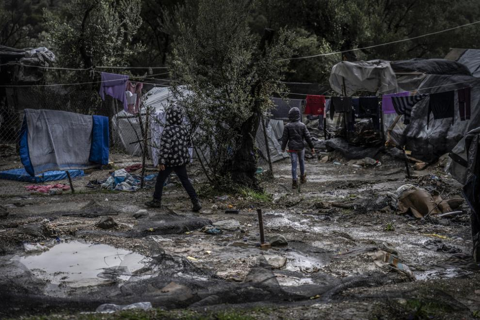 """Many children being treated by the MSF mental health team in Moria are """"unaccompanied"""""""