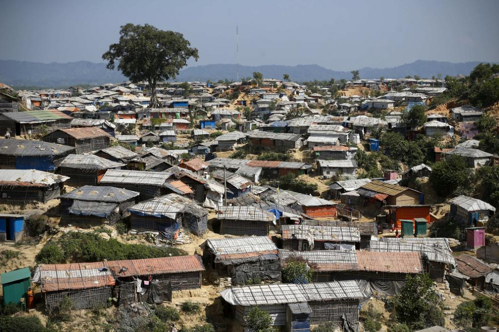 "A view across part of the Kutupalong ""megacamp"" - one of the largest refugee camps in the world"