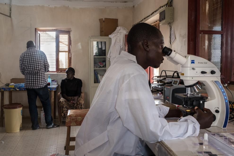 The laboratory at the MSF hospital in Agok