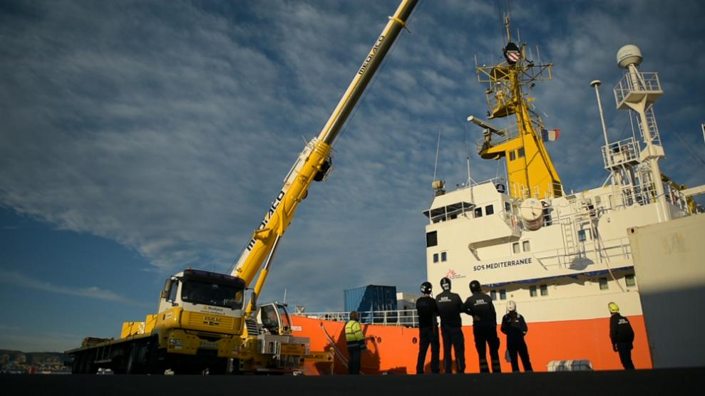 Search and rescue ship, Aquarius, was grounded by an EU campaign to stop humanitarian action in the Mediterranean