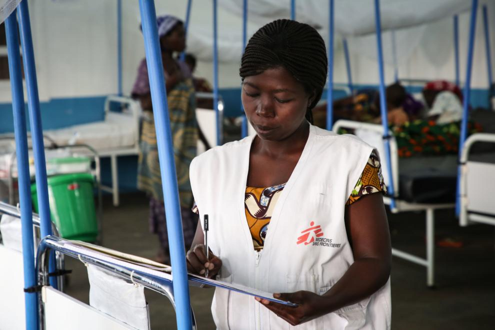 Florence Bindu, MSF nurse supervisor at Bambo general hospital in the Democratic Republic of Congo