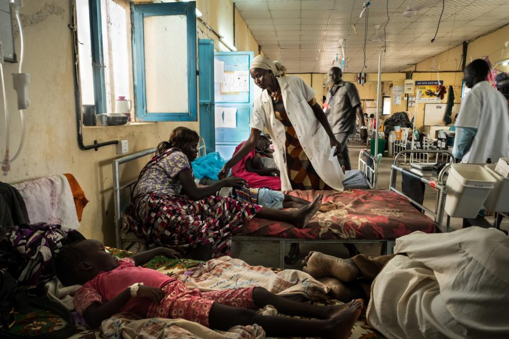 The inpatient ward at the MSF Agok hospital
