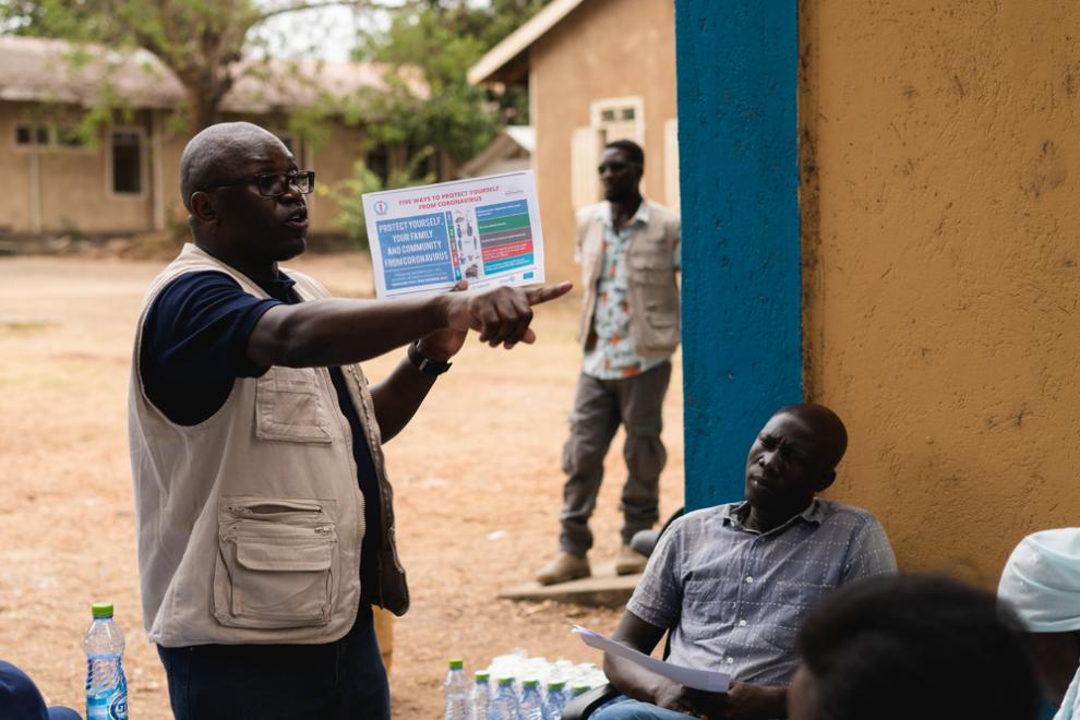 Health staff at the Al Sabah hospital in Juba, South Sudan attend a training supported by MSF ahead of the expected arrival of COVID-19 patients