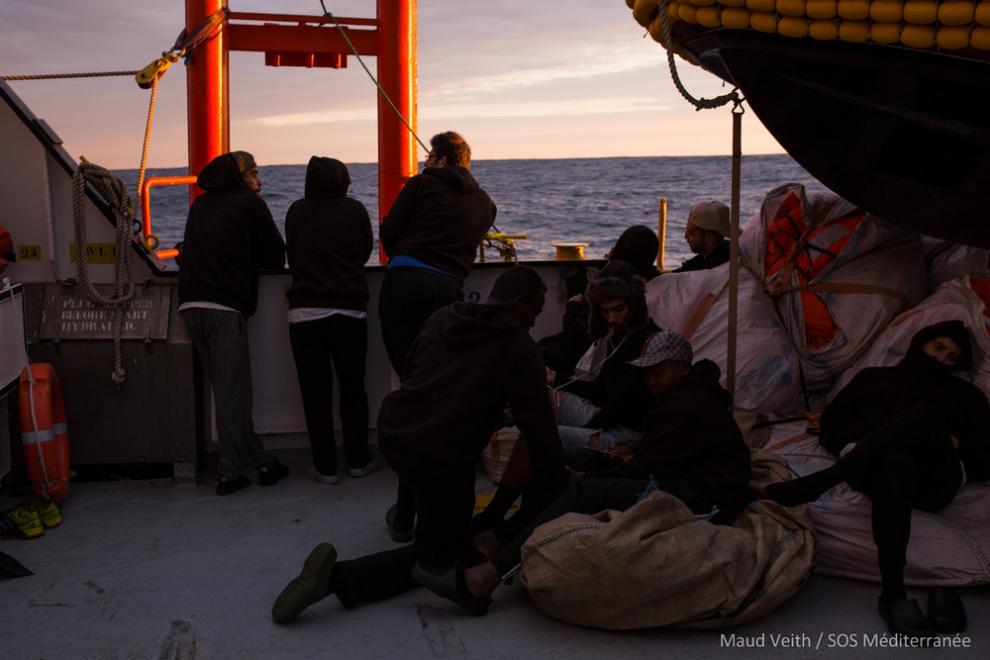 The Aquarius and its 58 survivors spent five days waiting in international waters off the coast of Malta in poor weather conditions