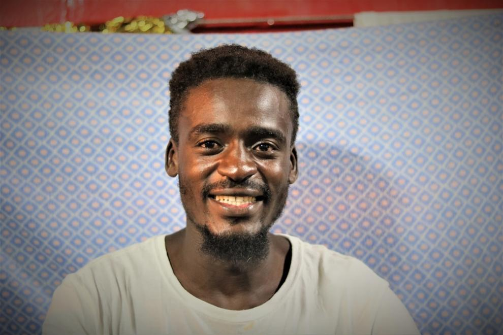 Sudanese man Abdul, 24, was a barber before he was incarcerated.