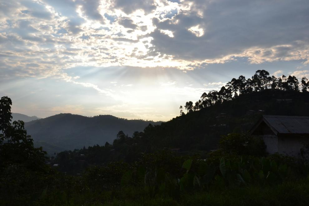 View of the hills from Masisi, North Kivu, July 2015