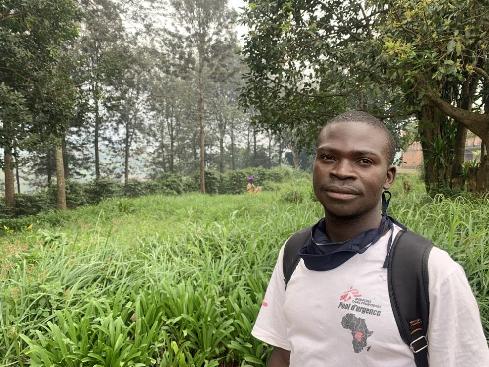 Djapan, an MSF community health worker in DRC