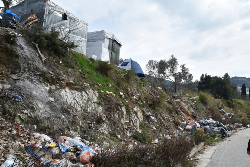 Refugees and migrants on the island of Samos live in dire conditions