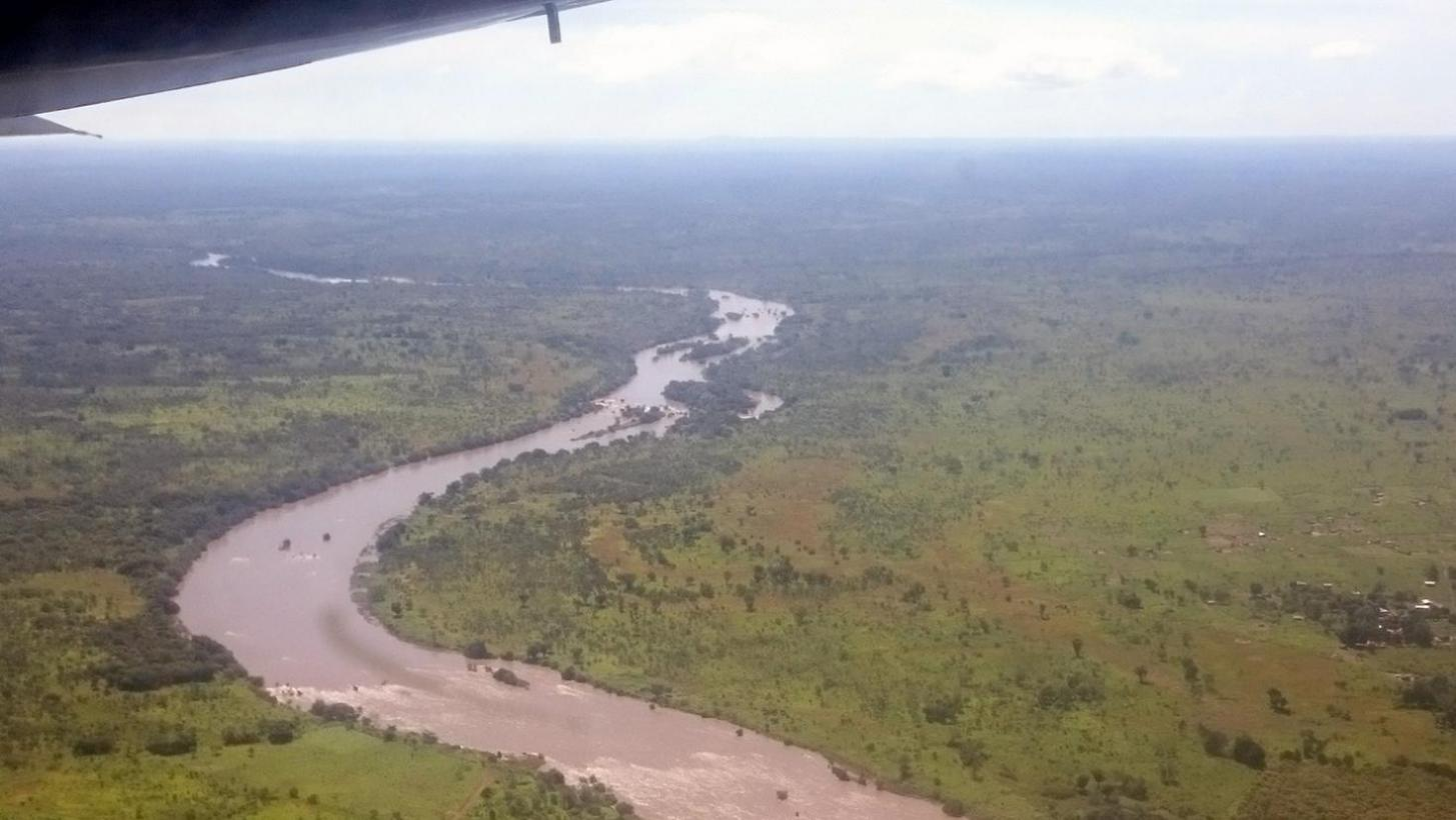The Central African Republic landscape from the air