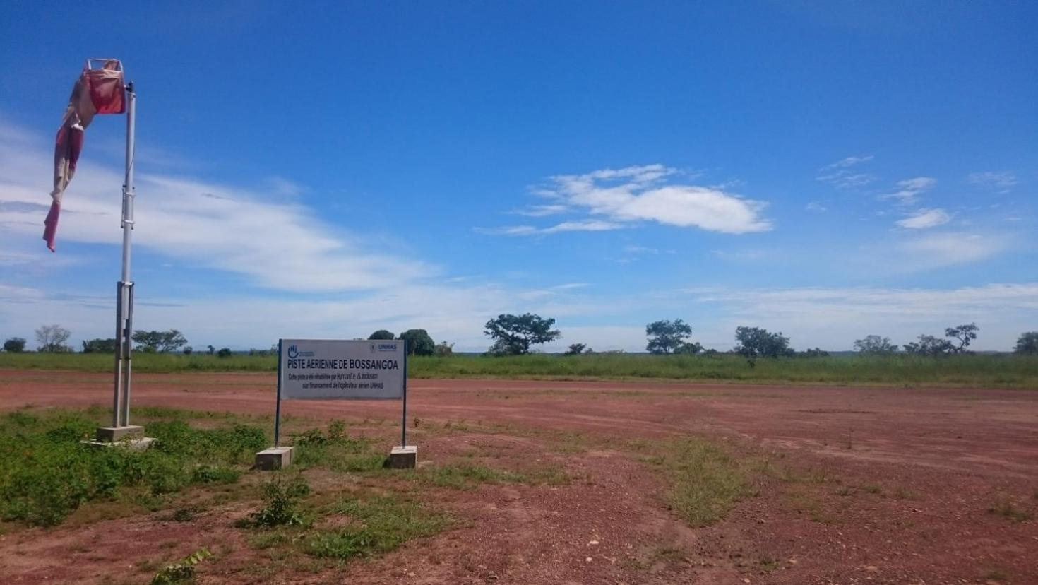 The airfield at Bossangoa