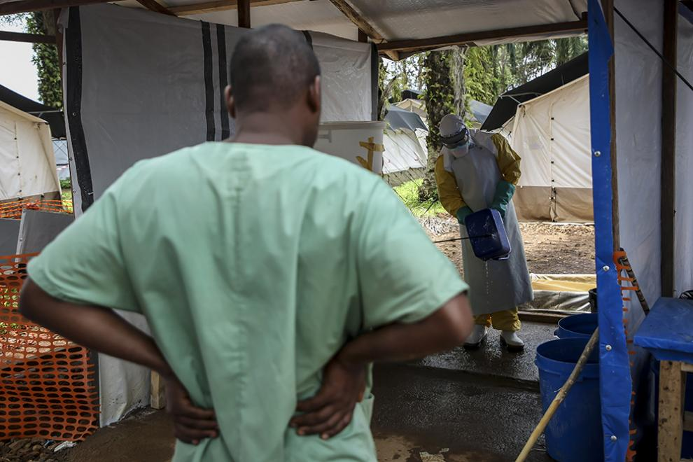 Alpha trains MSF staff in safe Ebola protocols