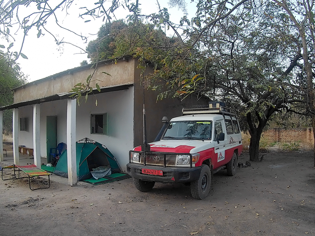 The MSF base, with Julia's tent out the front