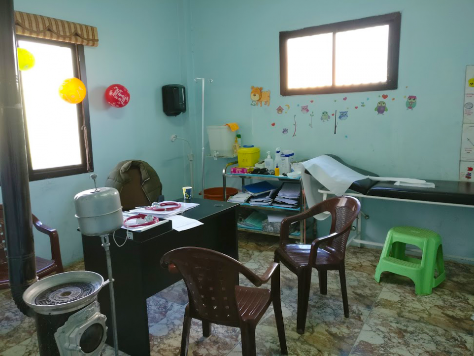 Consultation room at one of the MSF Lebanon projects