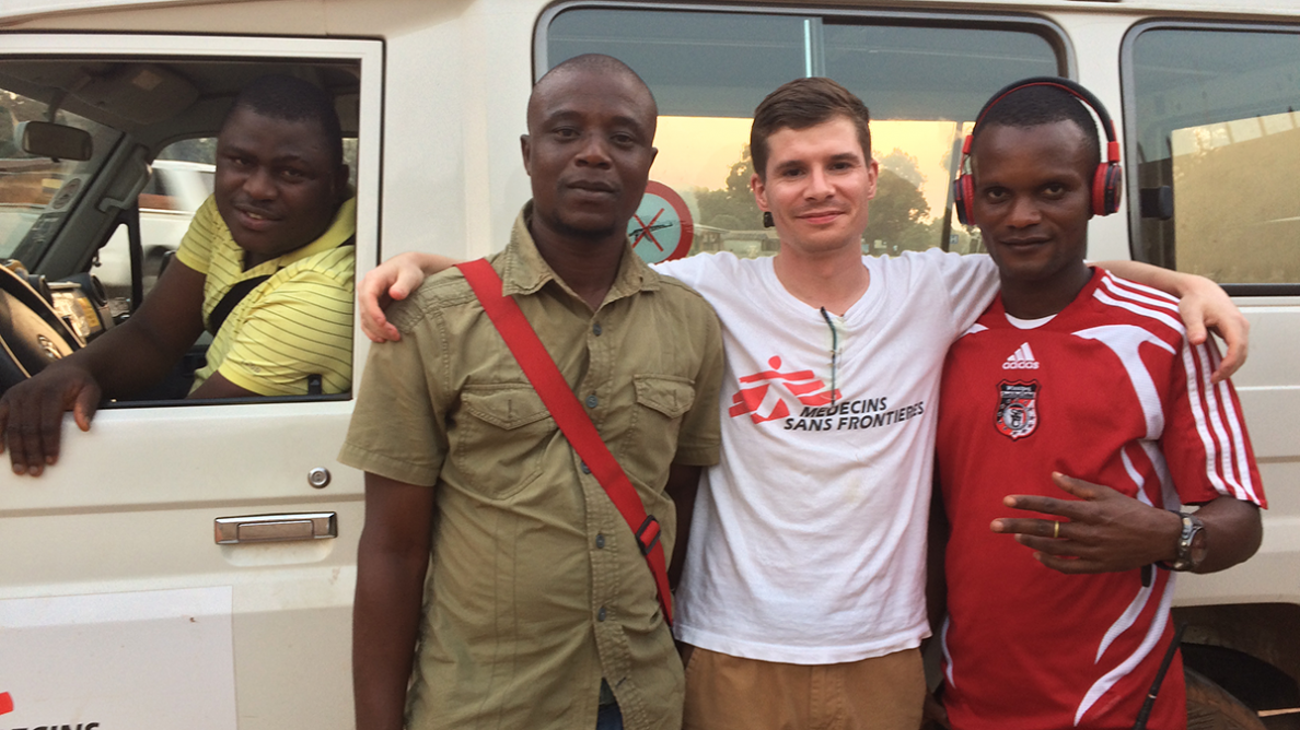 Chris and some of the Doctors Without Borders team pose for a photo