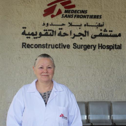Dr Eve, Director of the MSF reconstructive surgery hospital in Amman