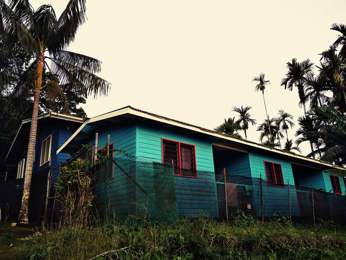 The MSF guesthouse in Kerema, Papua New Guinea