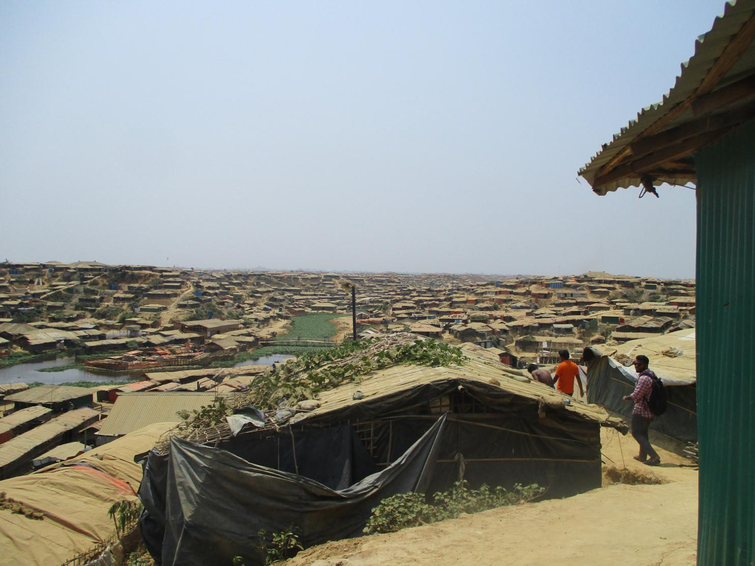View of the kutupalong refugee camp