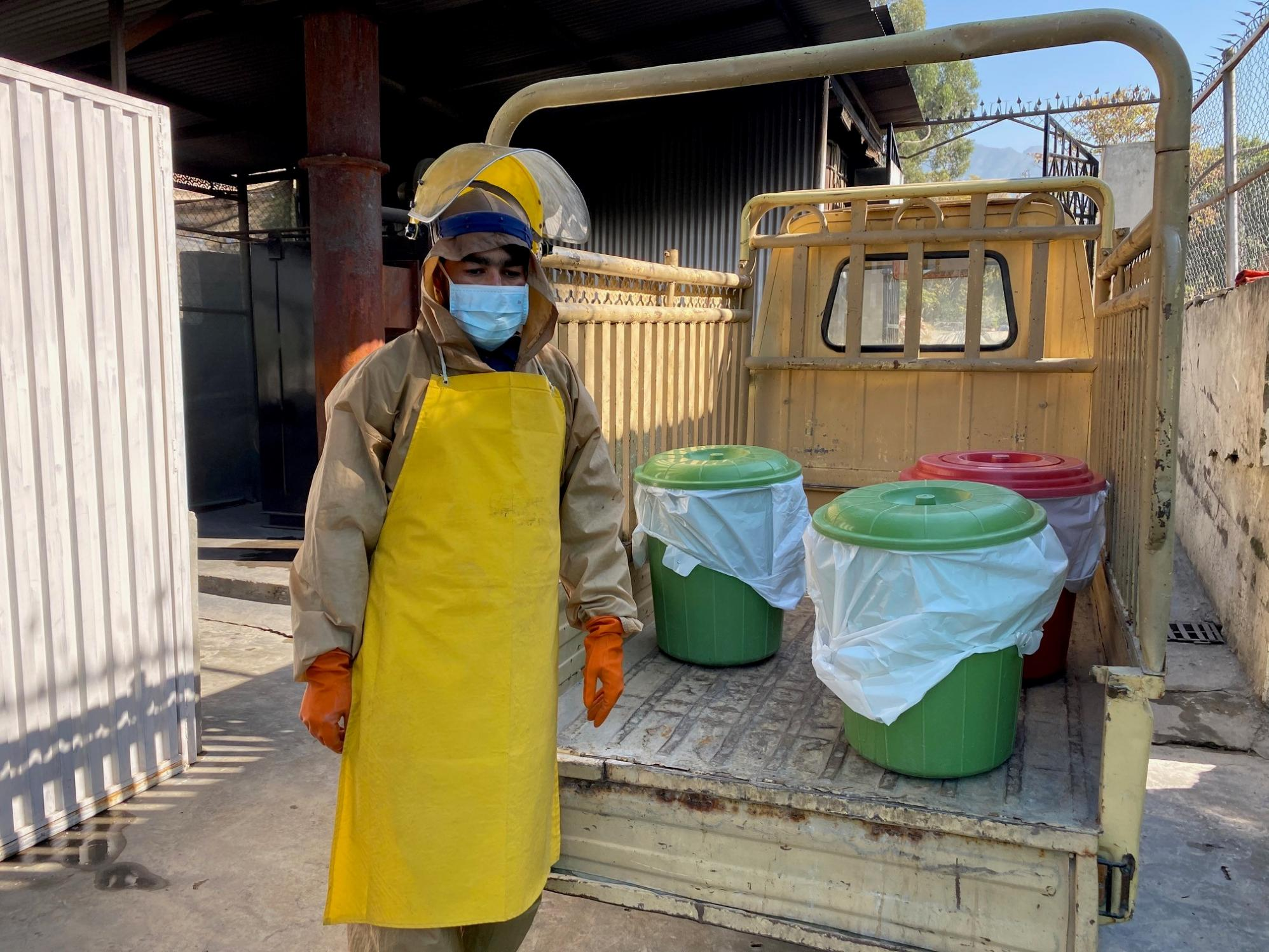 The MSF waste disposal team in Timergara
