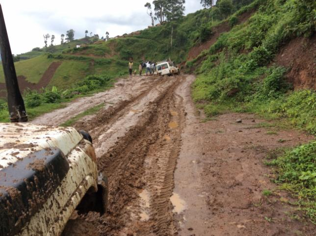 The mud on the way to Mpati.