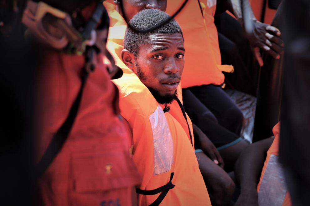 The people rescued by the Ocean Viking team have often survived horrendous conditions in Libya