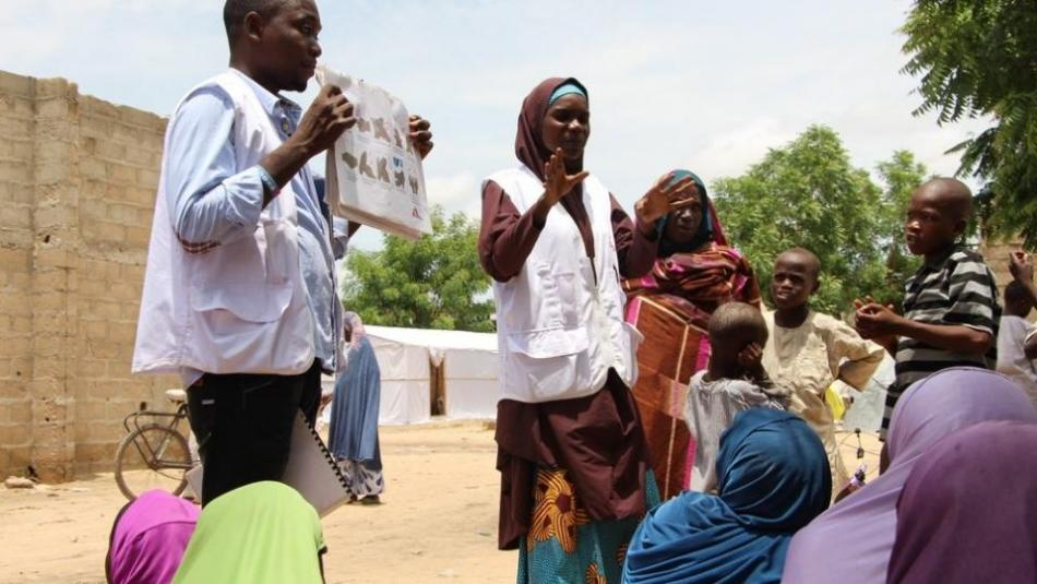 health promotion team in action in Nigeria