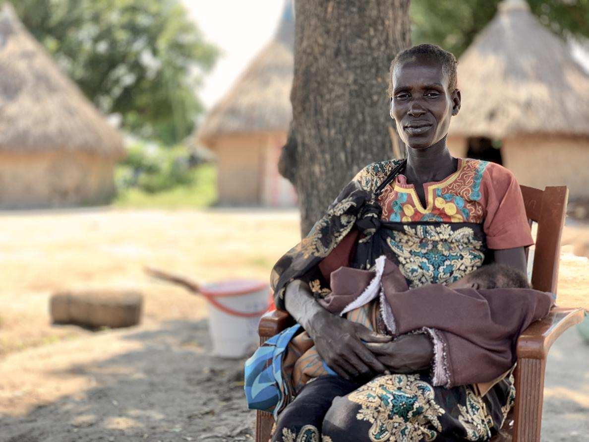 Nyame, a patient at MSF's hospital in Old Fangak