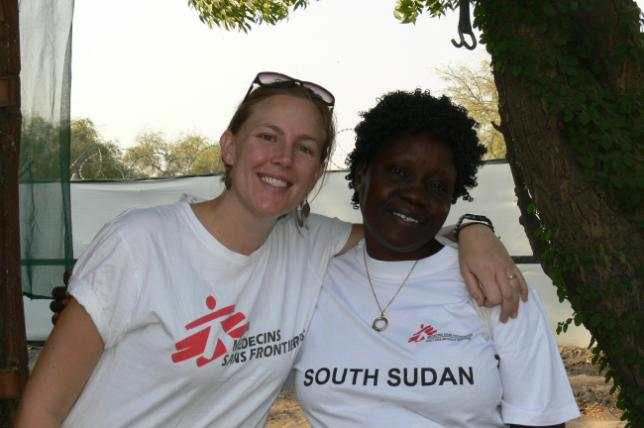 With Loice (aka 'Mama Loice'), the South Sudanese nurse who was my rock who always supported and comforted me.