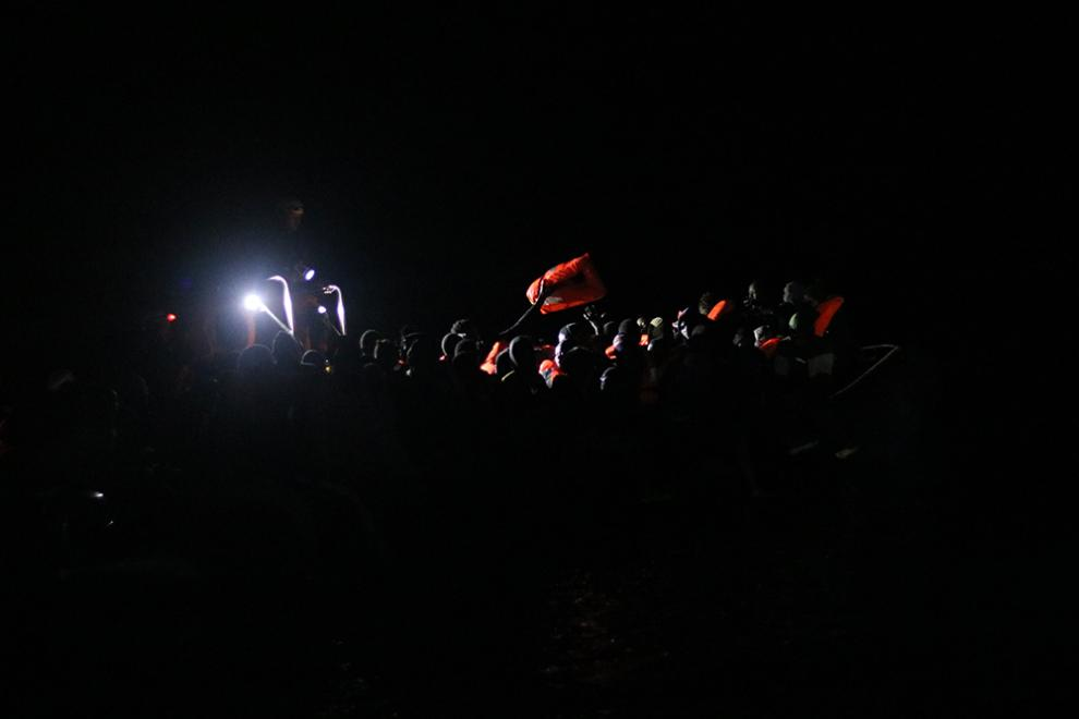 Ocean Viking crews conduct a night rescue in the Central Mediterranean