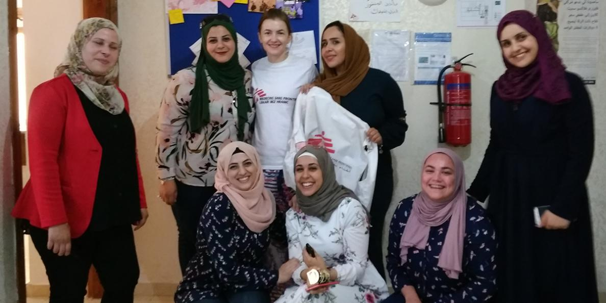 Kateřina Šrahůlková and some of the MSF team in Jordan