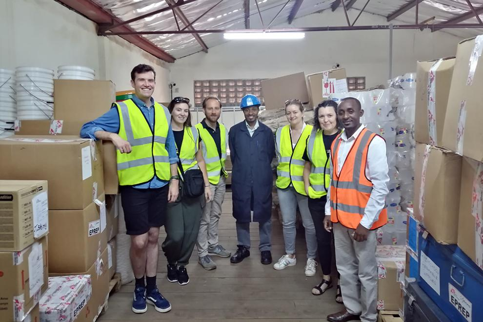 Visiting the Somalia warehouse in Nairobi