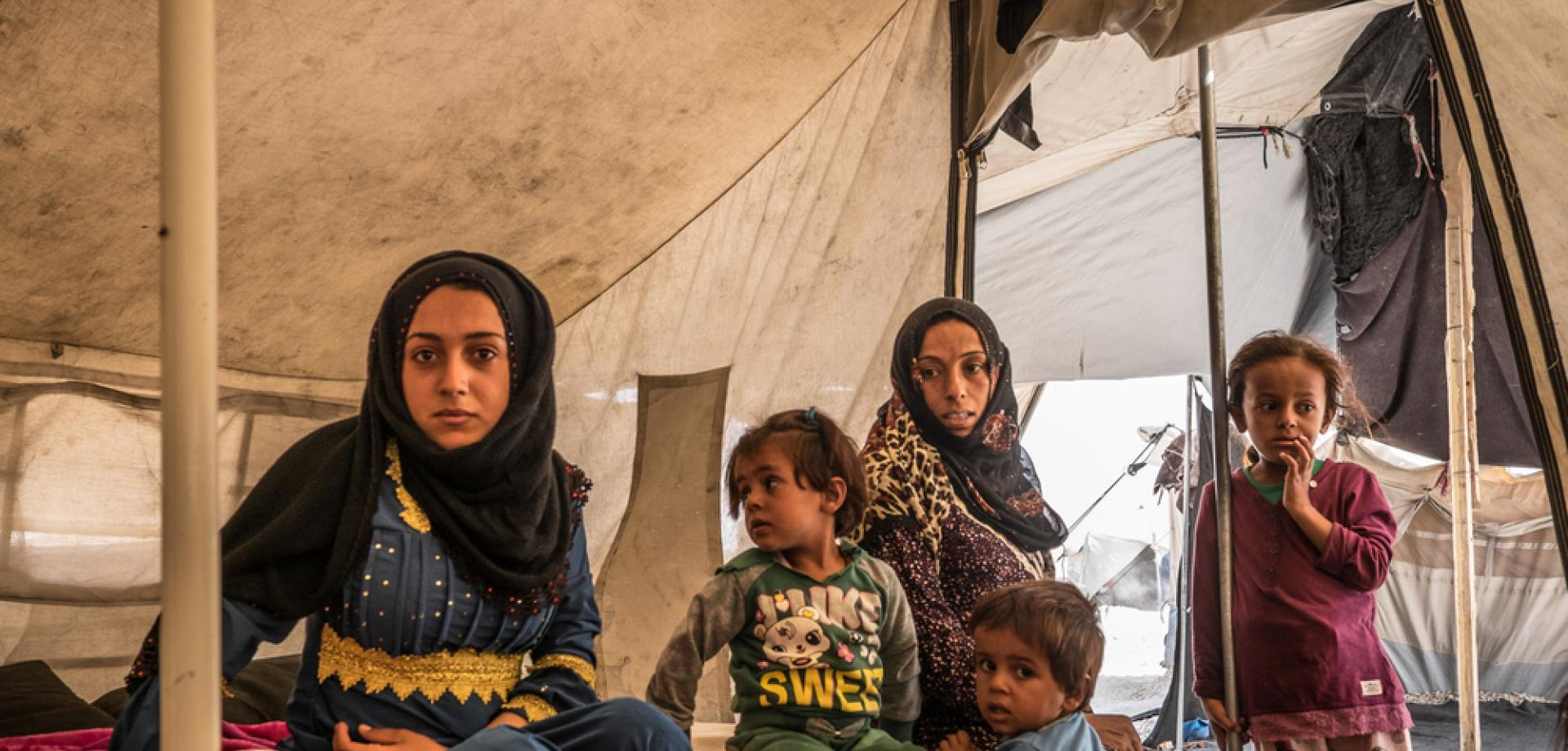 Refugee women in Ain Issa camp, Syria, September 2017