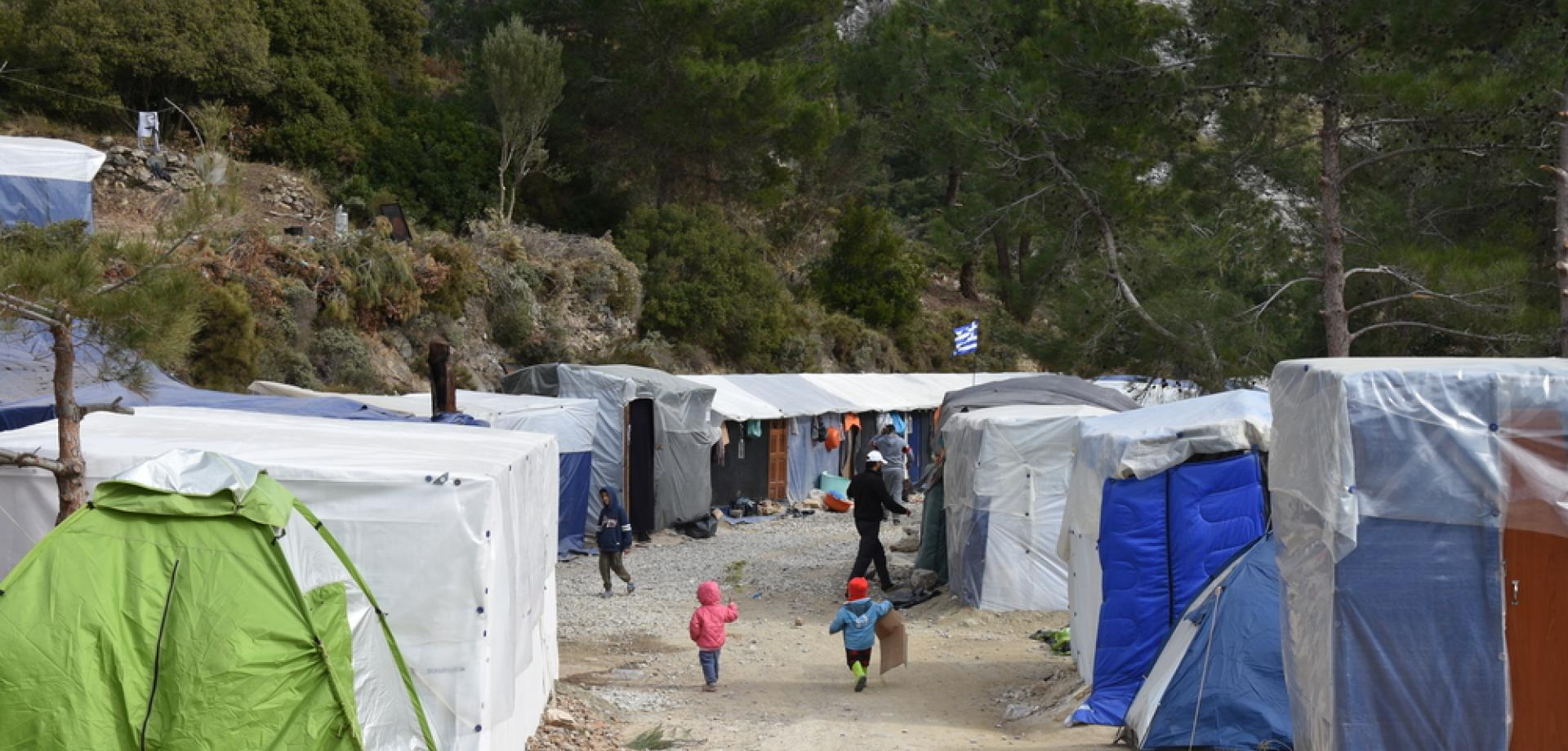 About 8,000 people live in the overcrowded Vathy refugee camp on the island of Samos, which was built to accommodate only 650 people