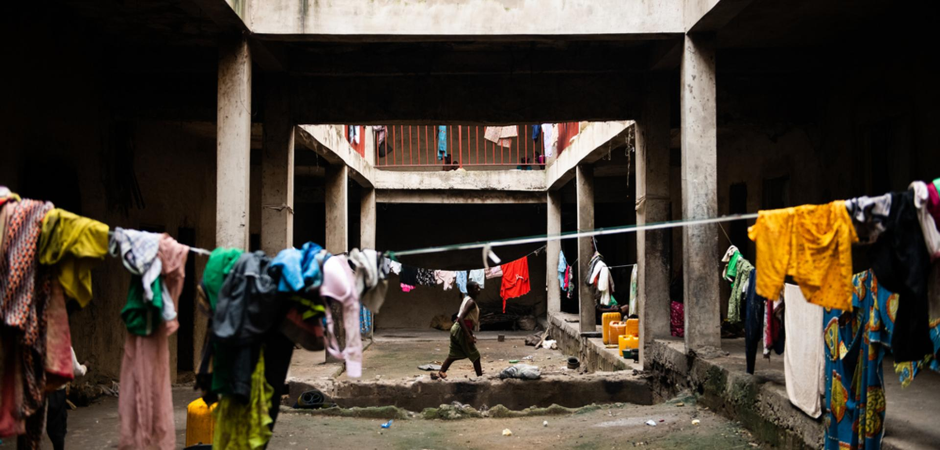 Conditions in a camp for people displaced by armed conflict in Benue state, Nigeria