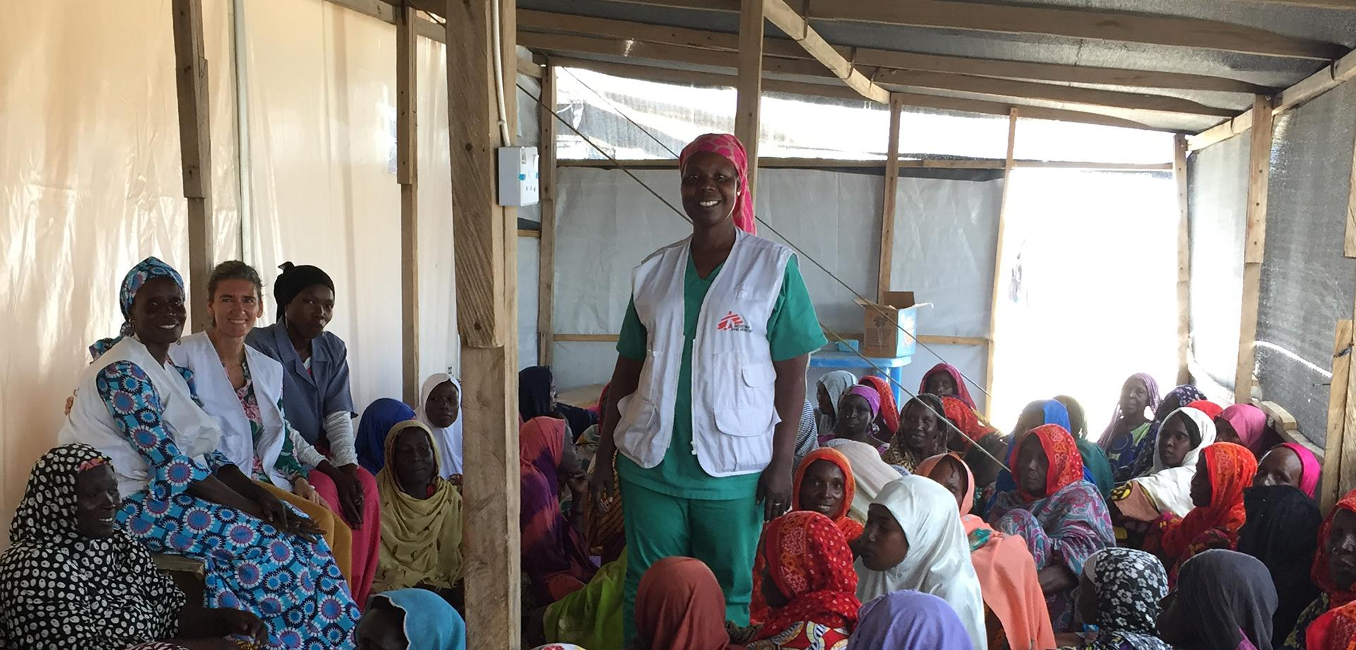 Aisha Akello works with MSF at an IPD camp in Ngala, northeast Nigeria